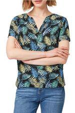 Блуза TOM TAILOR Черный с принтом 1010503 17262