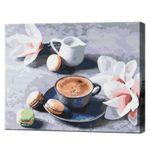 Кофе и орхидеи, 40х50 см, картина по номерам BS34316