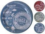 Набор тарелок бумажных BBQ 10шт, 23cm, 3 цвета