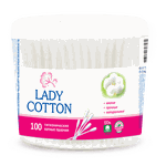 Палочки ватные Lady Cotton, 100 шт. (коробка)