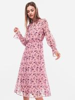 Платье TOM TAILOR Розовый с принтом 1005159
