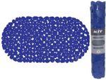 Covoras pentru cada de baie 39X99cm oval MSV Galets, albastru, PVC