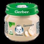Пюре Gerber из цыпленка, с 6 месяцев, 80г