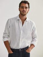Рубашка Massimo Dutti Белый в полоску 0175/174/250