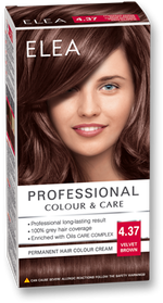 Vopsea p/u păr, SOLVEX Elea, 138 ml., 4.37 - Șaten catifelat