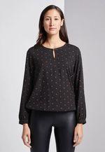 Блуза TOM TAILOR Чёрный в горошек 1015476