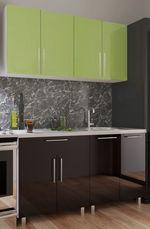 Кухонный гарнитур Bafimob Mini (High Gloss) 1.4m Green/Black