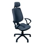 Офисное кресло Regbi серое (подголовник A-06)