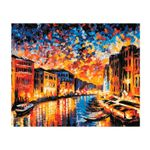 Картина по номерам 40X50 Канал в Венеции HS0157