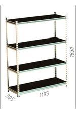 Стеллаж металлический Gama Box 1195Wx305Dx1830H мм, 4 полок/0164PE антрацит