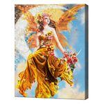 Осенняя фея, 40x50 см, комбо-набор числовой росписи + алмазная мозаика, YHDGJ74636