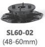 Система опора для фальшпола, основание нивелир SL60-02 (48-60mm)