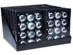 Набор шаров 12X57mm, 4матов, 8глянц, серебряных, в коробке