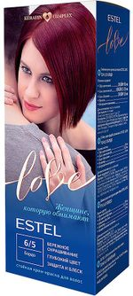 Vopsea p/u păr, ESTEL Love, 100 ml., 6/5 - Bordo