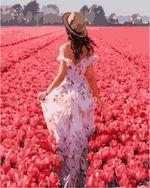 Картина по номерам  40x50 см Девушка в поле цветов VA1224