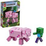 LEGO Minecraft Figurine mari Copil porc și zombie, art. 21157