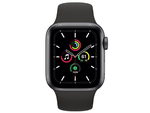 Apple Watch SE 40mm Space Gray Aluminum Case with Black Sport Band, MYDP2 GPS, Space Gray