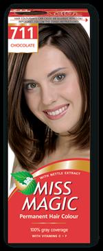 Краска для волос,SOLVEX Miss Magic, 90 мл., 711 - Шоколад
