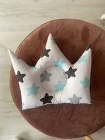Подушечка корона с голубыми звездочками