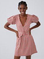 Платье ZARA Красный в клетку 4215/900/067
