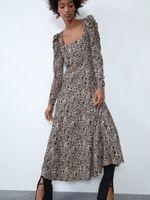 Платье ZARA Леопард 8342/101/051