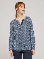Блуза TOM TAILOR Синий в цветочек