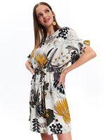Платье TOP SECRET Бежевый с принтом ssu2781