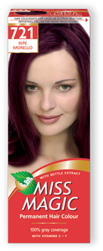 Vopsea p/u păr, SOLVEX Miss Magic, 90 ml., 721 - Cireașă coaptă