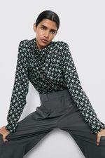 Блуза ZARA Черный/зеленый 4043/041/031 zara