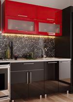 Кухонный гарнитур Bafimob Modern (High Gloss) Mini 1.2m Red/Black