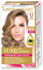Vopsea p/u păr, SOLVEX Miss Magic Luxe Colors, 108 ml., 9.2 - Blond nisipiu