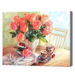Букет чайных роз, 40x50 см, aлмазная мозаика