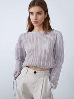 Блуза ZARA Серый 5189/917/808