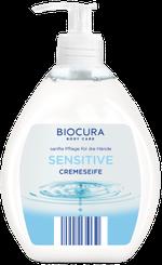 Жидкое крем-мыло для рук Biocura Cremeseife Сенситив, 500 мл