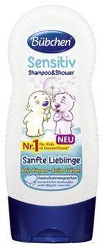 Шампунь-Гель для мытья волос и тела для детей с чувствительной кожей «Ласковый и Нежный» Bubchen 230 мл
