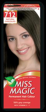 Vopsea p/u păr, SOLVEX Miss Magic, 90 ml., 712 - Ciocolată naturală