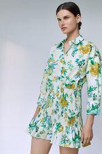 Платье ZARA Белый с цветами 2183/241/251