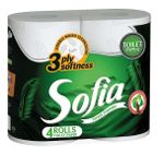 Туалетная бумага SOFIA 3 слоя 18.2м*4