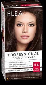 Краска для волос,SOLVEX Elea, 138 мл., 3.4 - Тёмный каштан