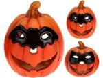 Candelabru Halloween Dovleac cu masca 10.5cm