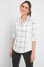 Блуза ORSAY Белый в клетку 660052