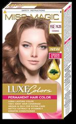 Vopsea p/u păr, SOLVEX Miss Magic Luxe Colors, 108 ml., 112 (9.25) - Cognac