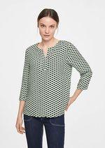 Блуза Comma, Зеленый с принтом