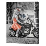 Пара на мотоцикле, 40х50 см, картина по номерам Артукул: GX34130