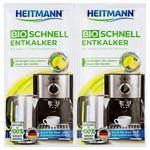 HEITMANN Экспресс Био очиститель накипи для кофеварок и электрочайников, 2 x 25г