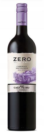Вино безалкогольное Casa Petru Alcohol Free Cabernet Sauvignon красное полусладкое, 0.75л