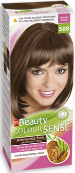 Краска для волос,SOLVEX MM Beauty Sense, 125 мл., S08 - Молочный шоколад
