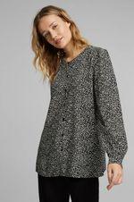 Блуза ESPRIT Черный с принтом