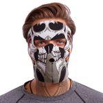 Маска лицевая ветрозащитная MS Tribal Skull (неопрен, черный) (3836)