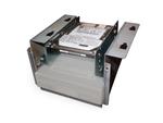 Металлическая монтажная рамка для 4 твердотельных накопителей 2,5 дюйма в отсек 3,5 дюйма, Gembird MF-3241